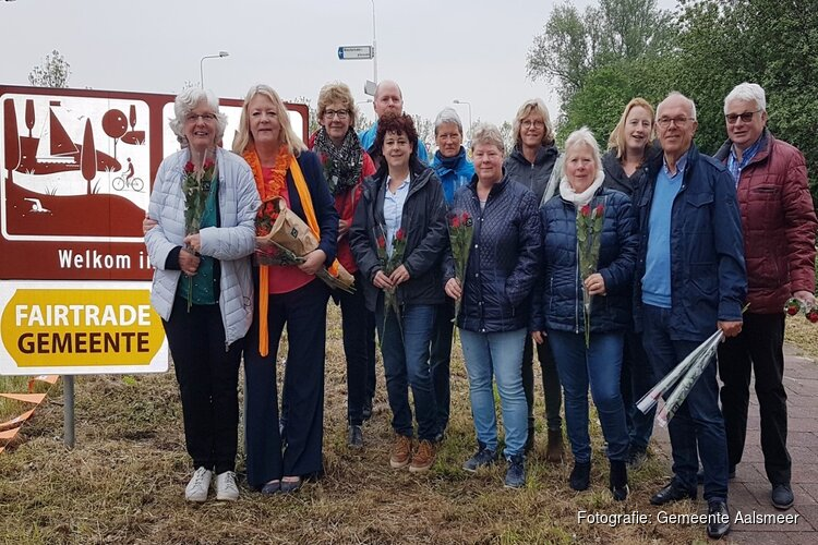 Fairtrade-borden in Aalsmeer