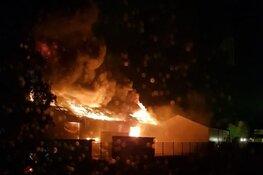 """Grote brand net over de provinciegrens in Lisse: """"Sluit ramen en deuren"""""""