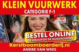 Kerstbomen en vuurwerk (cat. F-1)  scherp geprijsd bij Kerstboomboerderij.nl