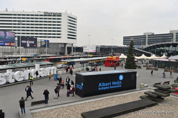 Schiphol-bezoekers kunnen nu inkopen doen bij kassaloze Albert Heijn