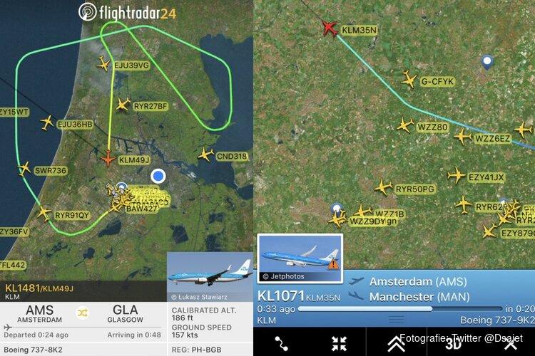 Piloot KLM-vlucht naar Manchester verstuurt noodcode: tweede incident in 12 uur