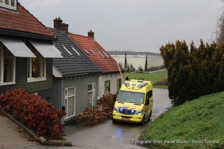Val van steiger in Aalsmeer