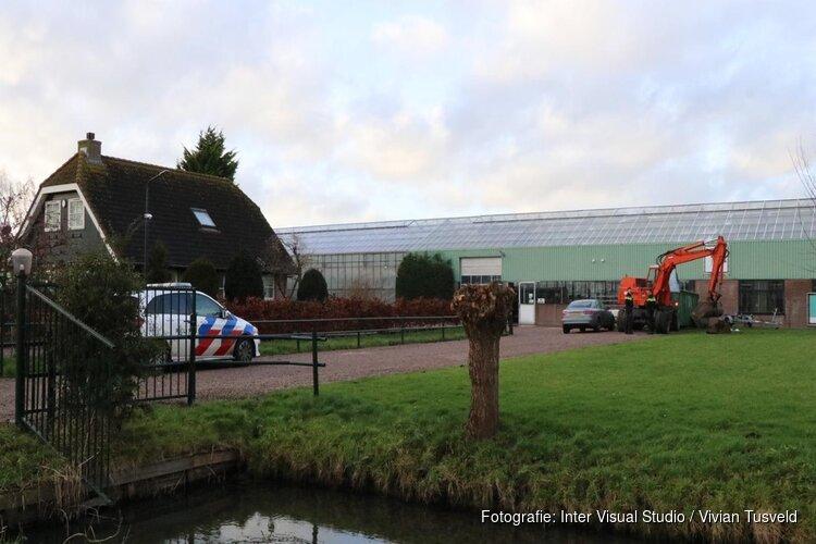 Gewonde bij ongeval met graafmachine in Aalsmeer