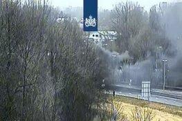 Afrit A9 afgesloten door brandende auto bij Aalsmeer