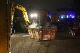 Groot alarm blijkt containerbrandje