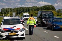 Veel overlast door ongeval op de N205 bij de Cruquius