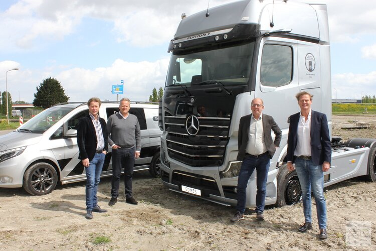 Nieuwe vestiging Mercedes-Benz dealer Gomes aan de N201 in Green Park Aalsmeer