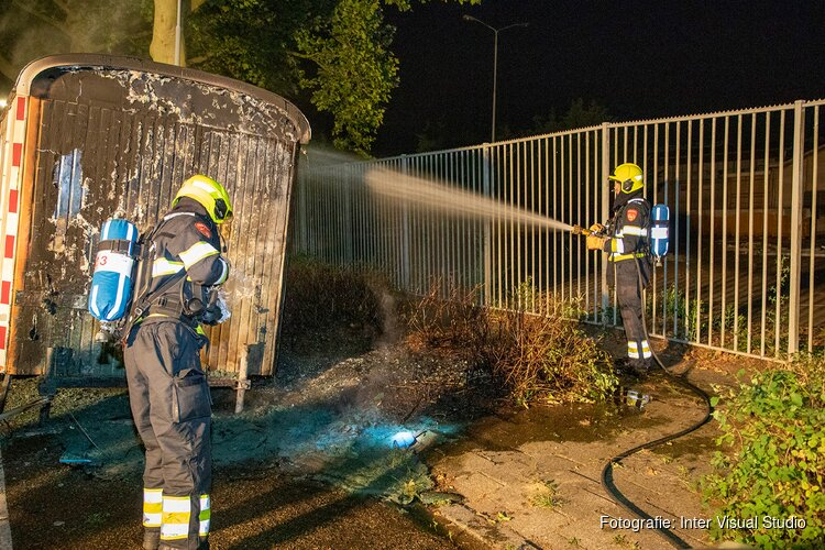 Dixie toilet afgebrand in Zwanenburg, bouwkeet beschadigd