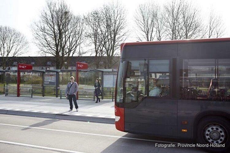 Herstelwerkzaamheden busbaan bij halte Overbos Noord gemeente Haarlemmermeer