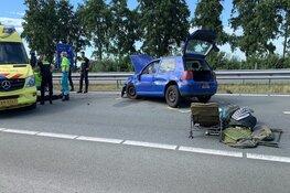 Aanhouding en voortvluchtenden na ongeluk Halfweg