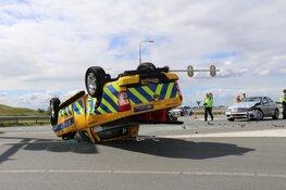 Auto van weginspecteur aangereden (Lijnden)