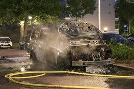Auto verwoest door brand in Uithoorn